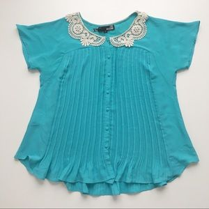 💜 LOVE MOSCHINO TURQUOISE BLOUSE 💜